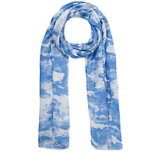 Buy Kin by John Lewis Cloud Print Scarf, Blue Online at johnlewis.com