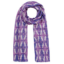 Buy Collection WEEKEND by John Lewis Batik Diamond Print Scarf, Purple Online at johnlewis.com
