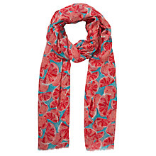 Buy Collection WEEKEND by John Lewis Orange Print Scarf, Blue Online at johnlewis.com