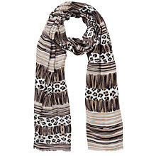 Buy John Lewis 150 Years Tribal Animal Print Scarf, Neutral Online at johnlewis.com