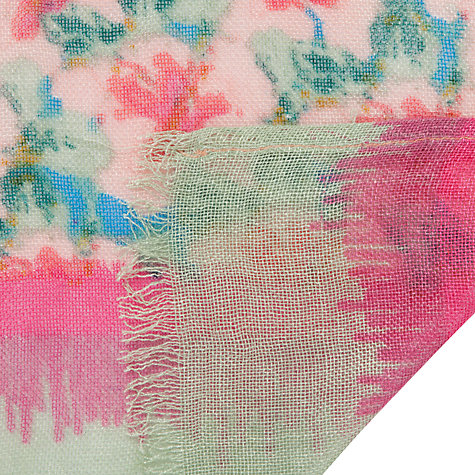 Buy COLLECTION by John Lewis Hibiscus Floral Print Scarf, Multi Online at johnlewis.com