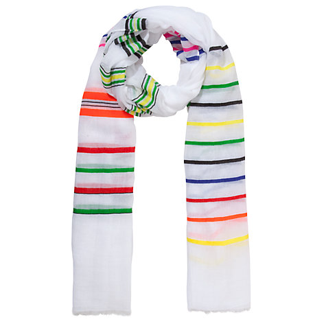 Buy Collection WEEKEND by John Lewis Sheer Stripe Scarf, Multi Online at johnlewis.com