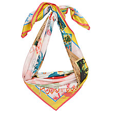 Buy COLLECTION by John Lewis Postcard Print Silk Square Scarf, Multi Online at johnlewis.com