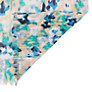 Buy John Lewis Blurred Poppy Floral Print Slub Viscose Scarf, Blue Online at johnlewis.com