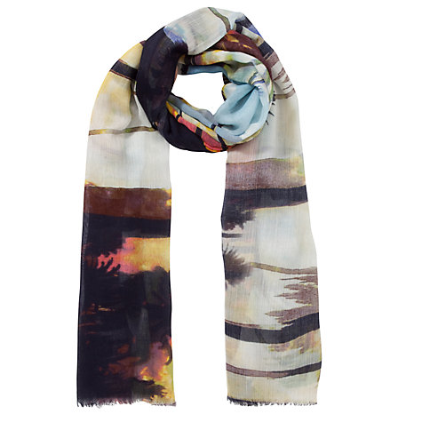 Buy John Lewis Digital Scenic Palm Print Scarf, Multi Online at johnlewis.com