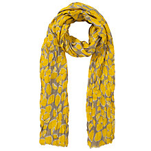 Buy Collection WEEKEND by John Lewis Lemon Print Scarf, Yellow Online at johnlewis.com