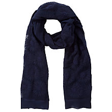 Buy Somerset by Alice Temperley Embroidered Daisy Print Scarf, Navy Online at johnlewis.com