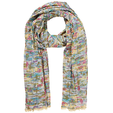 Buy Collection WEEKEND by John Lewis Palm Tree Print Scarf, Multi Online at johnlewis.com
