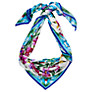 Buy COLLECTION by John Lewis Floral Kaleidoscope Silk Square Scarf, Blue Online at johnlewis.com