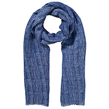 Buy Kin by John Lewis Scratchy Check Scarf, Blue Online at johnlewis.com