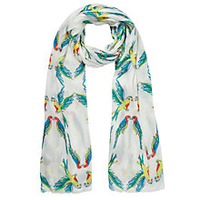 Buy John Lewis Parrot Print Scarf, Multi Online at johnlewis.com