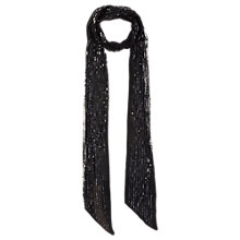 Buy Coast Skinny Sequined Scarf, Black Online at johnlewis.com
