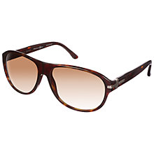 Buy Gucci GG1051/s Rectangular Sunglasses, Havana Online at johnlewis.com