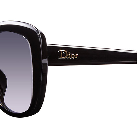 Buy Christian Dior Diorpromesse2 3IDHD Square Sunglasses, Black Online at johnlewis.com