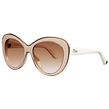 Buy Christian Dior Diorpromesse1 3HK6Y Cat's Eye Acetate Frame Sunglasses, Ivory Online at johnlewis.com