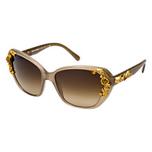 Buy Dolce & Gabbana DG4167 267913 Sicilian Baroque Acetate Sunglasses, Opal Brown Online at johnlewis.com