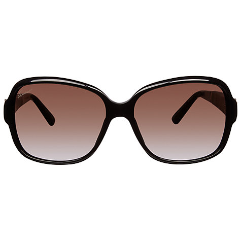 Buy Gucci GG3637/S Oversized Square Frame Polarised Sunglasses, Black/Havana Online at johnlewis.com