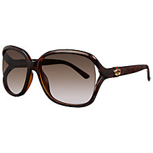 Buy Gucci GG3646/S Floating Lens Square Frame Acetate Sunglasses, Havana Online at johnlewis.com
