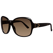 Buy Gucci GG3638/S 75QED Oversized Square Acetate Framed Sunglasses, Black Online at johnlewis.com
