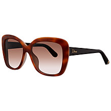 Buy Christian Dior Diorpromesse2 3IEJ6 Cat's Eye Sunglasses, Black Online at johnlewis.com