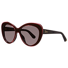 Buy Christian Dior Diorpromesse 1 3HMNR Cat's Eye Sunglasses Black/Pink Online at johnlewis.com