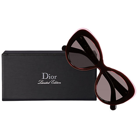 Buy Christian Dior Diorpromesse13HMNR Cat's Eye Sunglasses Black/Pink Online at johnlewis.com