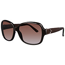 Buy Gucci GG3637/S Polarised Rectangular Framed Oversized Sunglasses, Havana Online at johnlewis.com