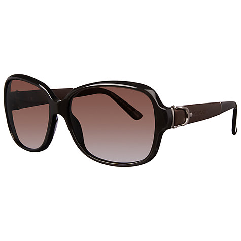 Buy Gucci G3637/S Oversized Square Polarised Sunglasses, Havana Online at johnlewis.com