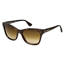 Buy Prada PR16PS  2AU6S1 Square Frame Cat's Eye Acetate Sunglasses, Havana Online at johnlewis.com