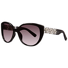 Buy Christian Dior Mystere AM3XQ Cat's Eye Diamanté Detail Sunglasses, Black Online at johnlewis.com