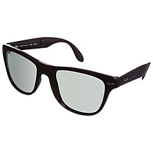 Buy Ray-Ban 4105 Folding Wayfarer Sunglasses, Black Online at johnlewis.com