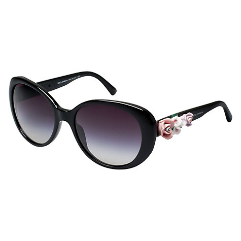 Buy Dolce & Gabbana DG4167 Cats Eye Sunglasses, Black Online at johnlewis.com