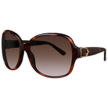 Buy Gucci GG3638/S Oversized Square Frame Acetate Sunglasses, Havana Online at johnlewis.com