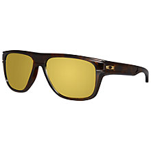 Buy Oakley OO9199 9199-05 Bread Box D-Framed Polarised Sunglasses, Black/Yellow Online at johnlewis.com