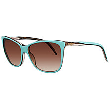 Buy Gucci GG3640/S Cat's Eye Square Framed Acetate Sunglasses,Turquoise Online at johnlewis.com