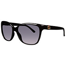 Buy Gucci 3645/S Oversized Acetate Frame Cat's Eye Sunglasses, Black Online at johnlewis.com