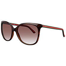 Buy Gucci 3649/S 17LJS Oversized Round Acetate Sunglasses, Havana Online at johnlewis.com