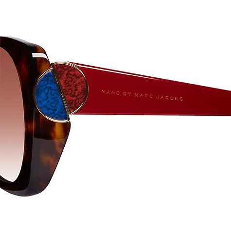 Buy Marc by Marc Jacobs MMJ 406/s 3TD Oversized Enamel Detail Acetate Frame Sunglasses, Dark Havana Online at johnlewis.com