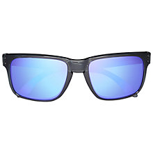 Buy Oakley OO9102 9102-45 Holbrook Acetate Frame Sunglasses, Black Online at johnlewis.com
