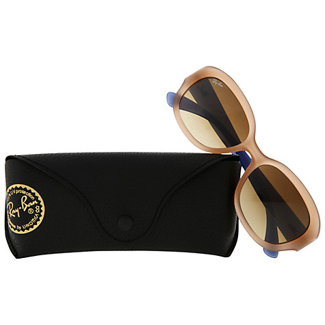 Buy Ray-Ban 0RB4198 Square Sunglasses, Opal Pink Online at johnlewis.com