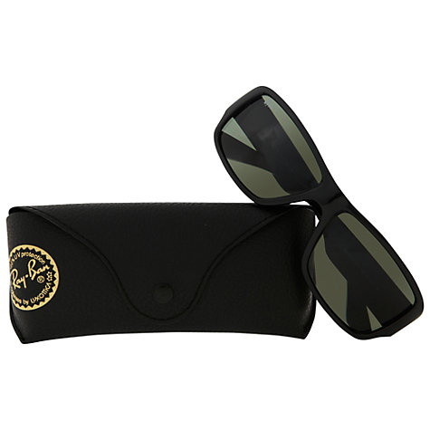 Buy Ray-Ban 0RB4199 Rectangular Sunglasses, Black Online at johnlewis.com