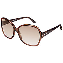 Buy TOM FORD F0229 Nicola Oversized Sunglasses Online at johnlewis.com