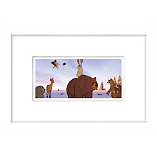 Buy John Lewis Bear & Hare Still 1 Framed Digital Print, 23 x 33cm Online at johnlewis.com