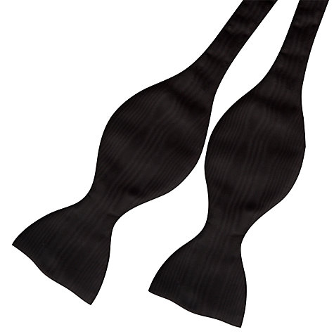 Buy Thomas Pink Moire Self Tie Bow Tie, Black Online at johnlewis.com