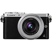 "Buy Panasonic Lumix DMC-GM1 Compact System Camera, 12-32mm Lens, HD 1080i, 16MP, Wi-Fi, 3"" LCD, Silver with FREE Leather Case Online at johnlewis.com"