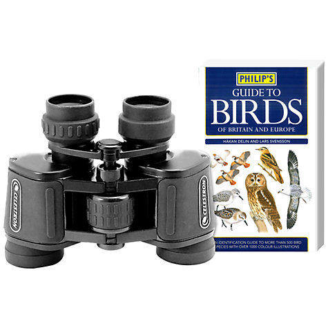 Buy Celestron Birders Starter Kit with UpClose G2 Binoculars, 7 x 35 and Philip's Guide to Birds Online at johnlewis.com