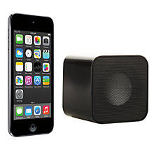 Buy Apple iPod touch 5th generation, 16GB, Black & Silver with Juice Sound Square Portable Speaker, Black Online at johnlewis.com