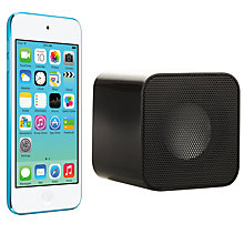 Buy Apple iPod touch 5th generation, 32GB, Blue with Juice Sound Square Portable Speaker, Black Online at johnlewis.com