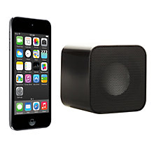 Buy Apple iPod touch 5th generation, 32GB, Space Grey with Juice Sound Square Portable Speaker, Black Online at johnlewis.com