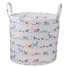 Buy John Lewis Farmyard Storage Basket, White/Multi Online at johnlewis.com